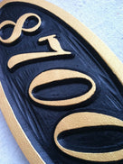 Custom Carved House number / Street Address Sign - Custom Carved Sign(A7) - The Carving Company