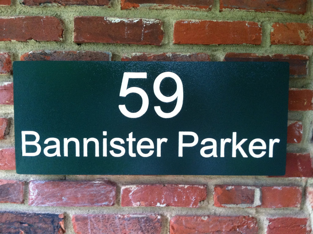 Custom Carved Street Address sign (A27) - The Carving Company