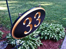 Personalized Carved House number Sign-up to 5 digits this sign - Oval (A29) - The Carving Company