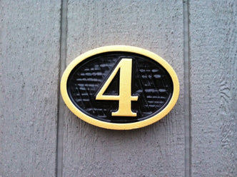 Custom House Number Sign - Street markers (A35) - The Carving Company