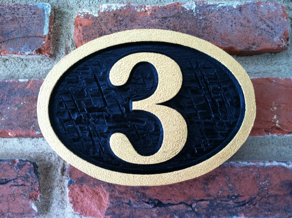 Carved House Number - Any Number (A3) - The Carving Company