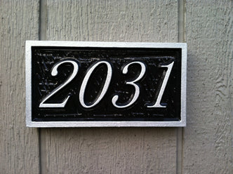 Custom House Number Sign Rectangle - up to 4 numbers (A46) - The Carving Company