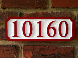 Custom House Number Sign - up to 5 Numbers (A49) - The Carving Company