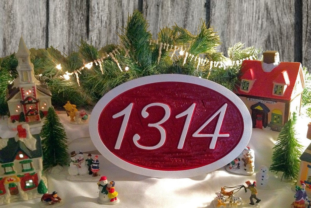 Made to Order Oval House number Sign (A33) - The Carving Company
