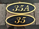Made to Order- Custom Carved Oval House number  (A32) - The Carving Company