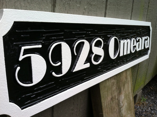 4 digit address sign with raised letters