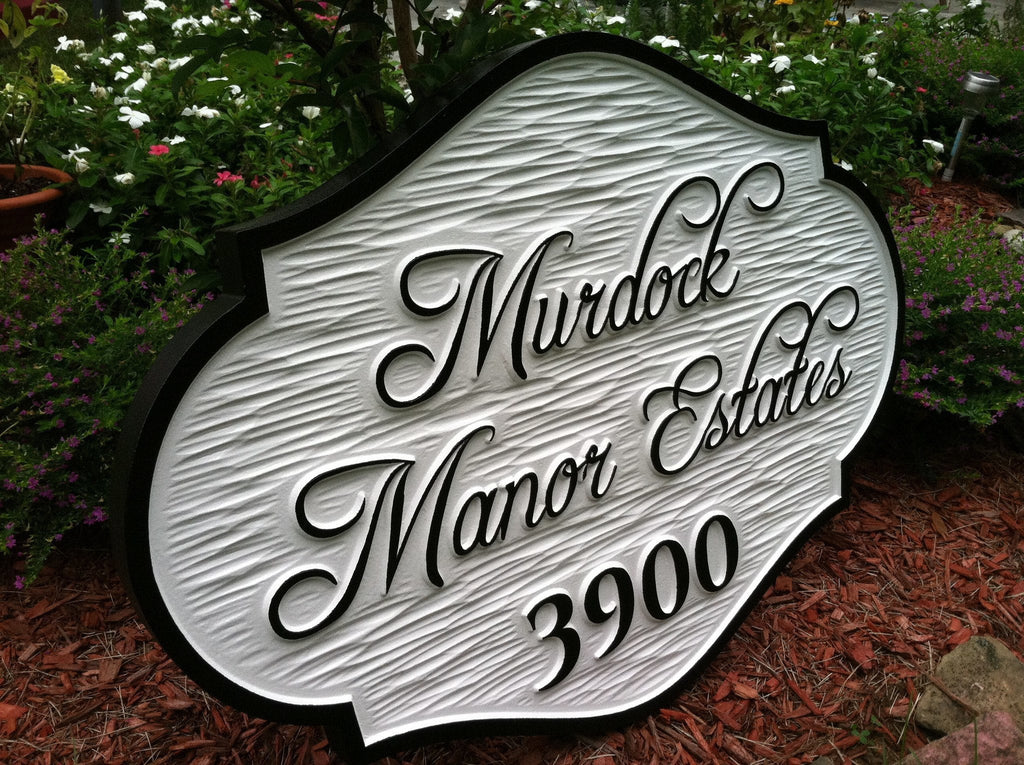 Estate Marker Sign Personalized with Family Name  (A56) - The Carving Company