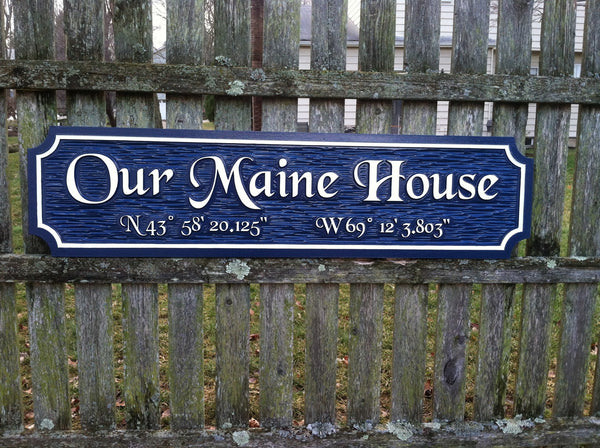 Our Maine house quarterboard -front