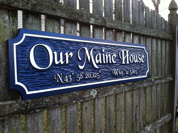 Our Maine house quarterboard -iso3