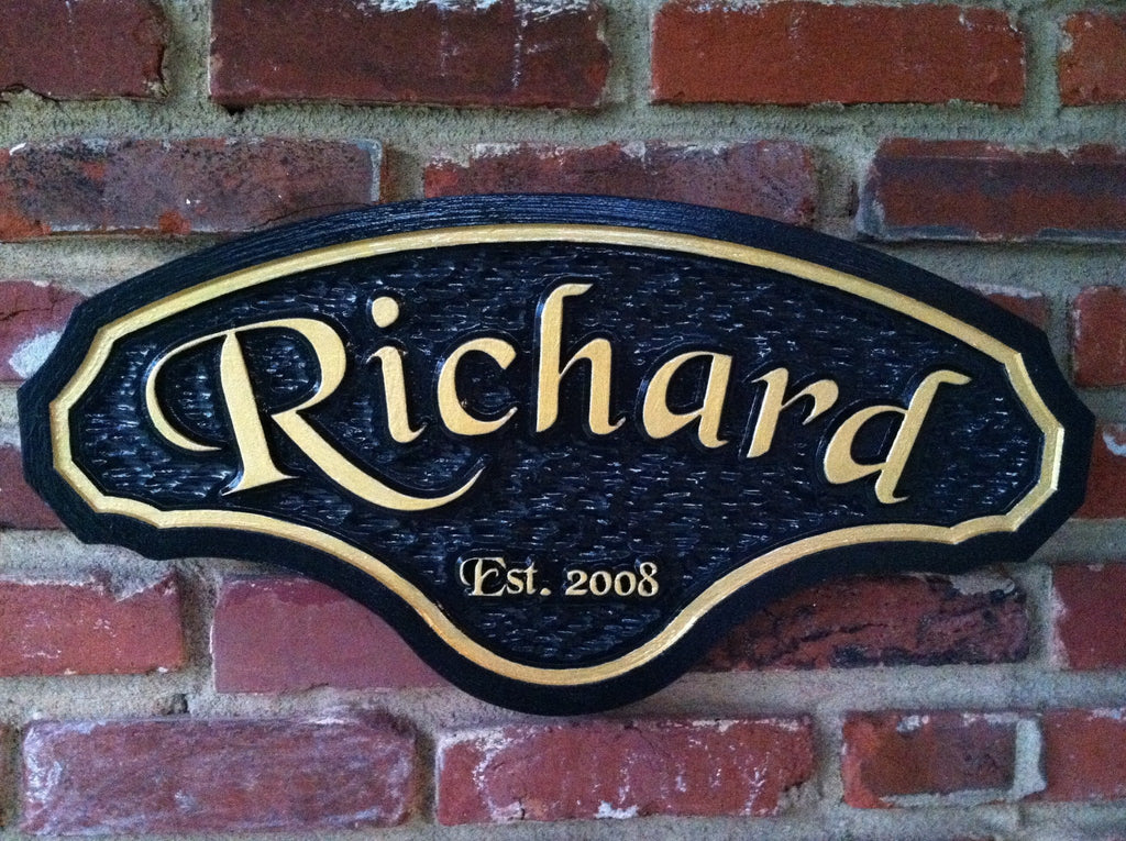 Custom Carved Last Name Sign with Established year (LN19) - The Carving Company
