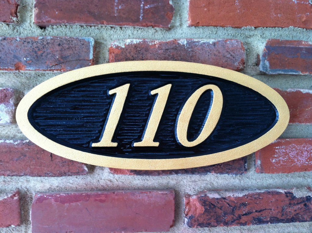 Custom Carved Oval House Number Plaque(A4) - The Carving Company