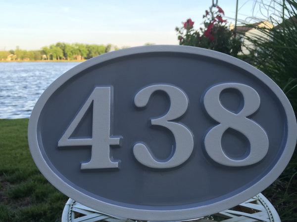 438 house number sign - front 2