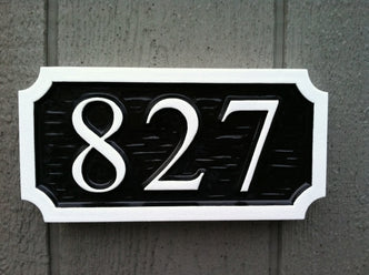 Made to Order House Number Sign (A63) - The Carving Company
