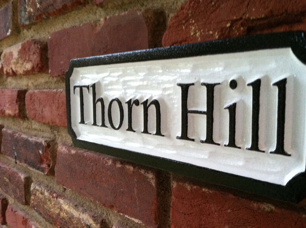 Custom Carved Thorn Hill estate sign by the Carving Company-iso