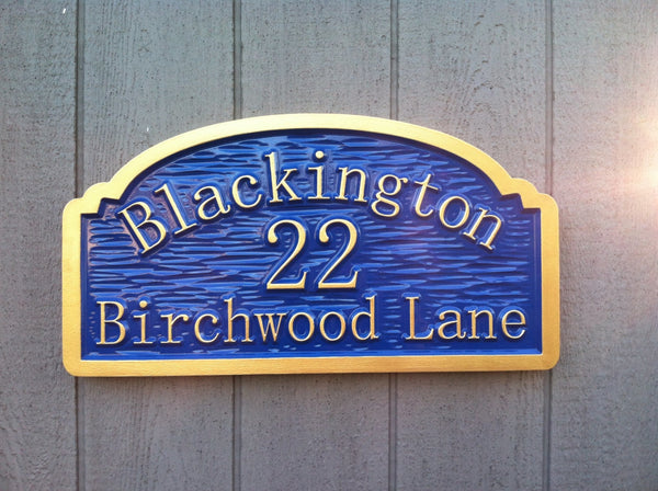 Blackington address sign textured background -front2