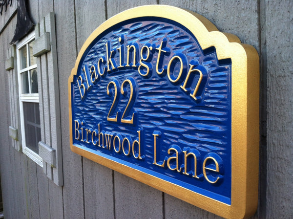 Blackington address sign textured background -iso