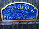 Custom Carved House address sign (A60) - The Carving Company