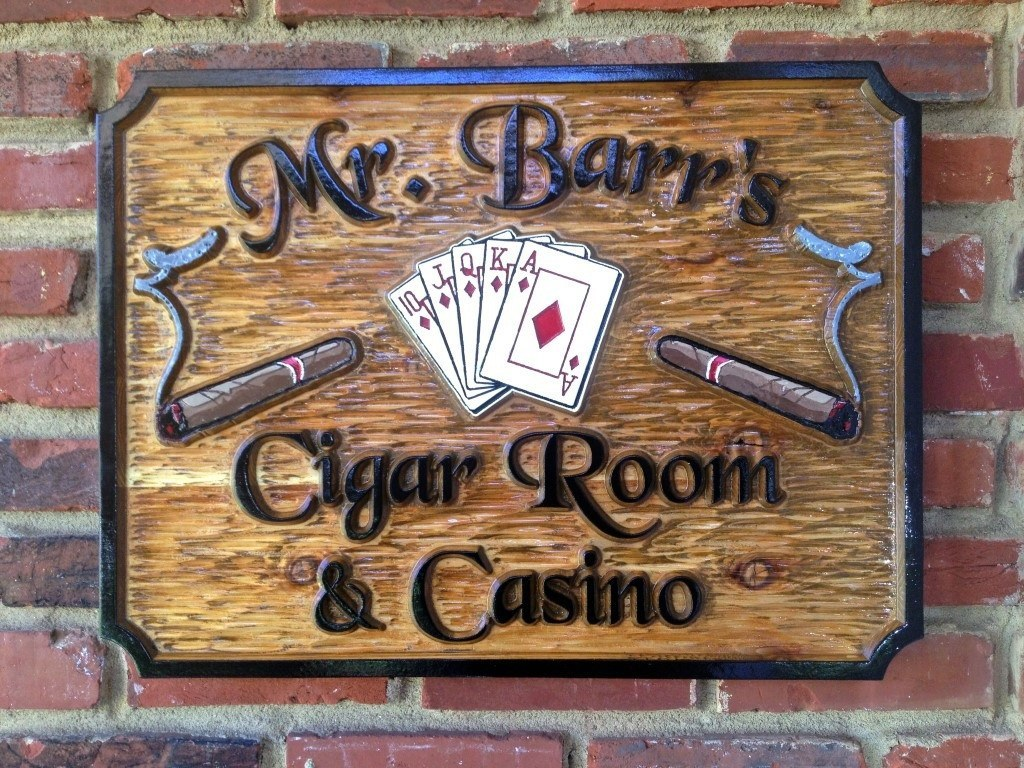Mr Barrs Cigar Room and Casino sign -front