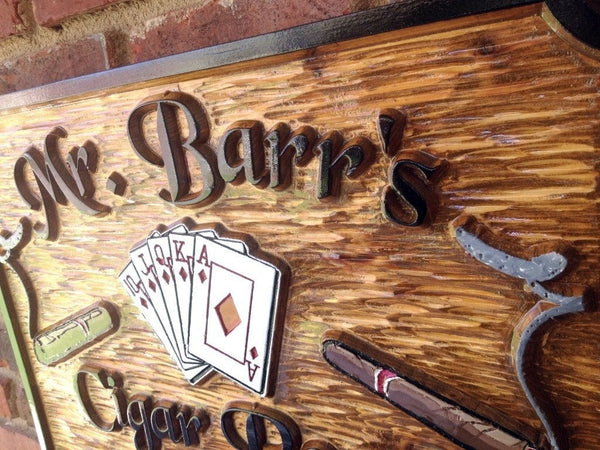 Mr Barrs Cigar Room and Casino sign -iso