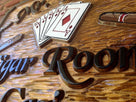 Custom Carved Cedar Cigar Room and Casino Sign (BP16) - The Carving Company