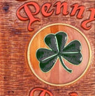 Classic Cedar Carved Personalized Pub Sign with Shamrock (BP3) - The Carving Company