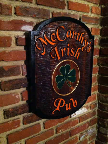 cedar McCarthy's Irish Pub sign - iso 1