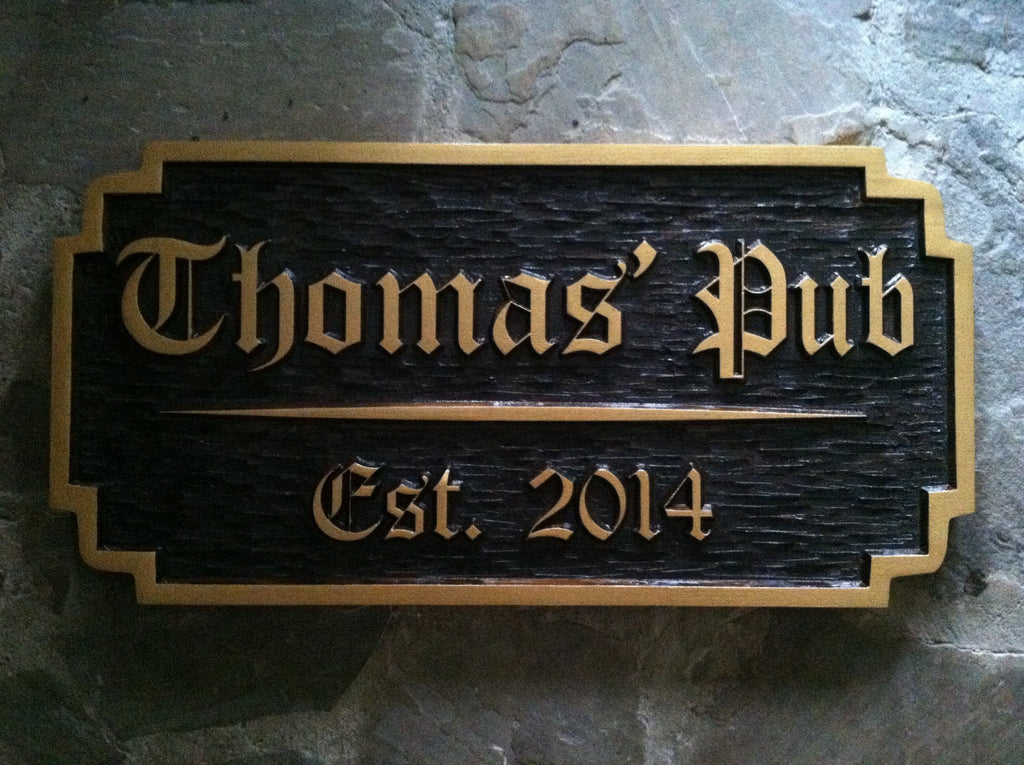 Personalized old english bar sign with est date bp36 for Classic house names