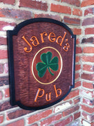 Personalized Pub Sign - Custom Carved Solid Cedar - (BP13) - The Carving Company