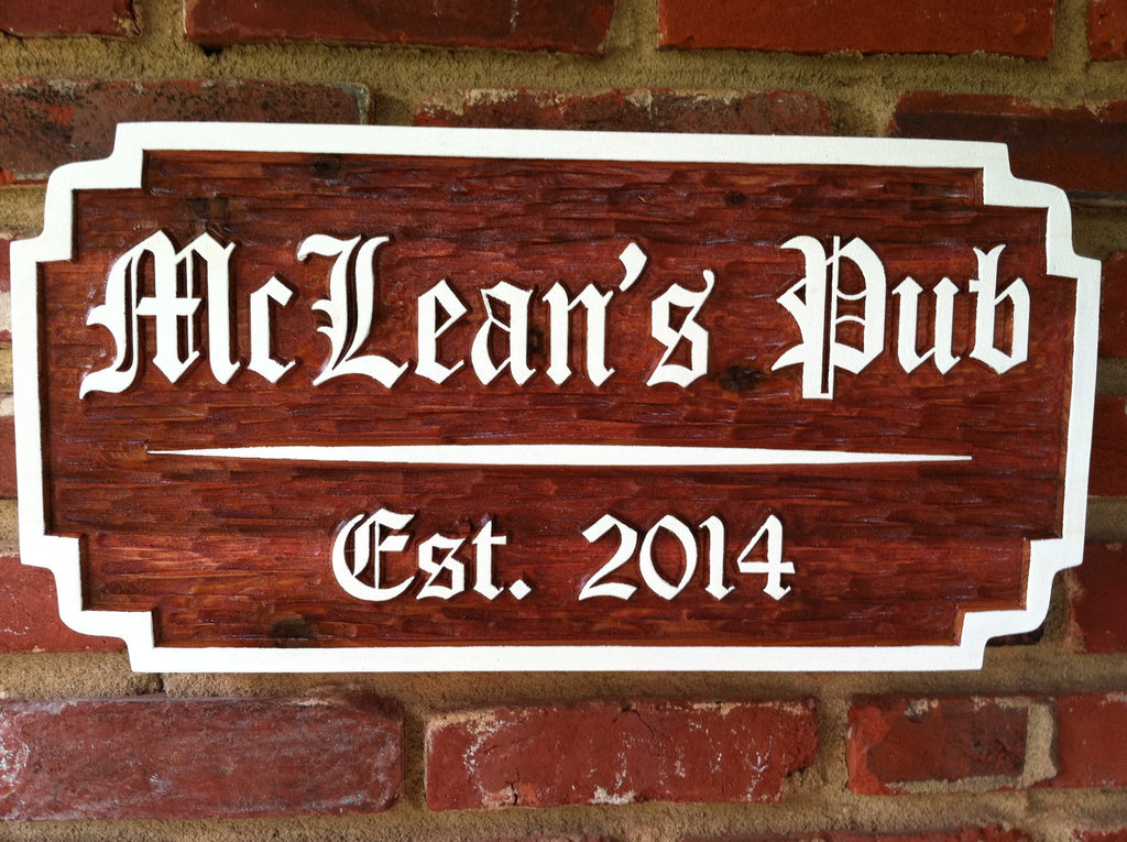 Custom Carved Wood Old English Pub Sign  (BP18) - The Carving Company