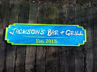 Custom Bar and Grill Sign - Made to Order  (BP45) - The Carving Company