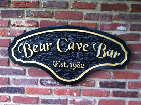 Bar sign -front