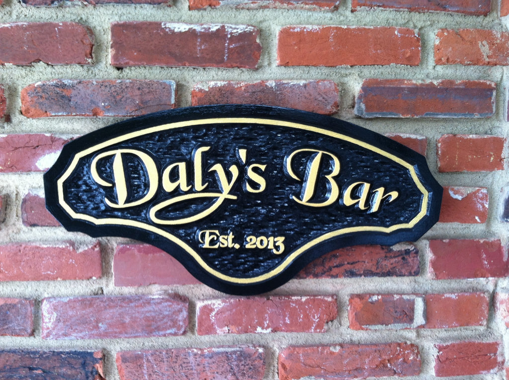 Classy Personalized Bar Sign with Established year  (BP9) - The Carving Company
