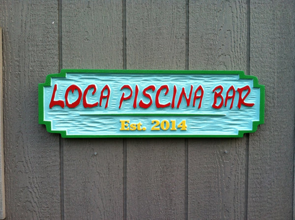 Custom bar sign with Mexican theme