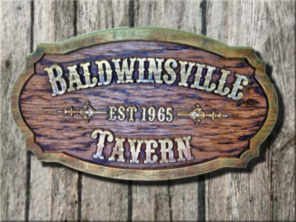 Custom tavern sign