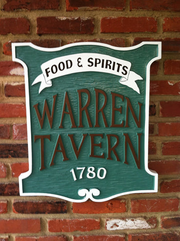 Colonial tavern sign 1700s vintage