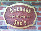 Customized Carved Oak Tavern pub - Bar Sign (BP40) - The Carving Company