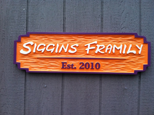 Bar sign with est date custom colors