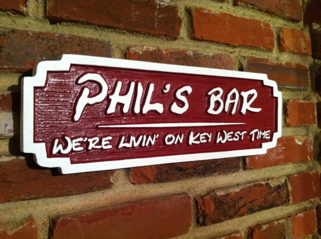 Personalized Bar Sign with Tag Line (BP33) - The Carving Company