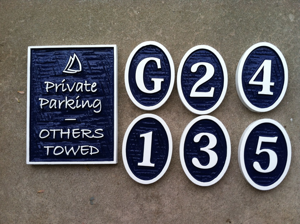 Parking lot signs -front