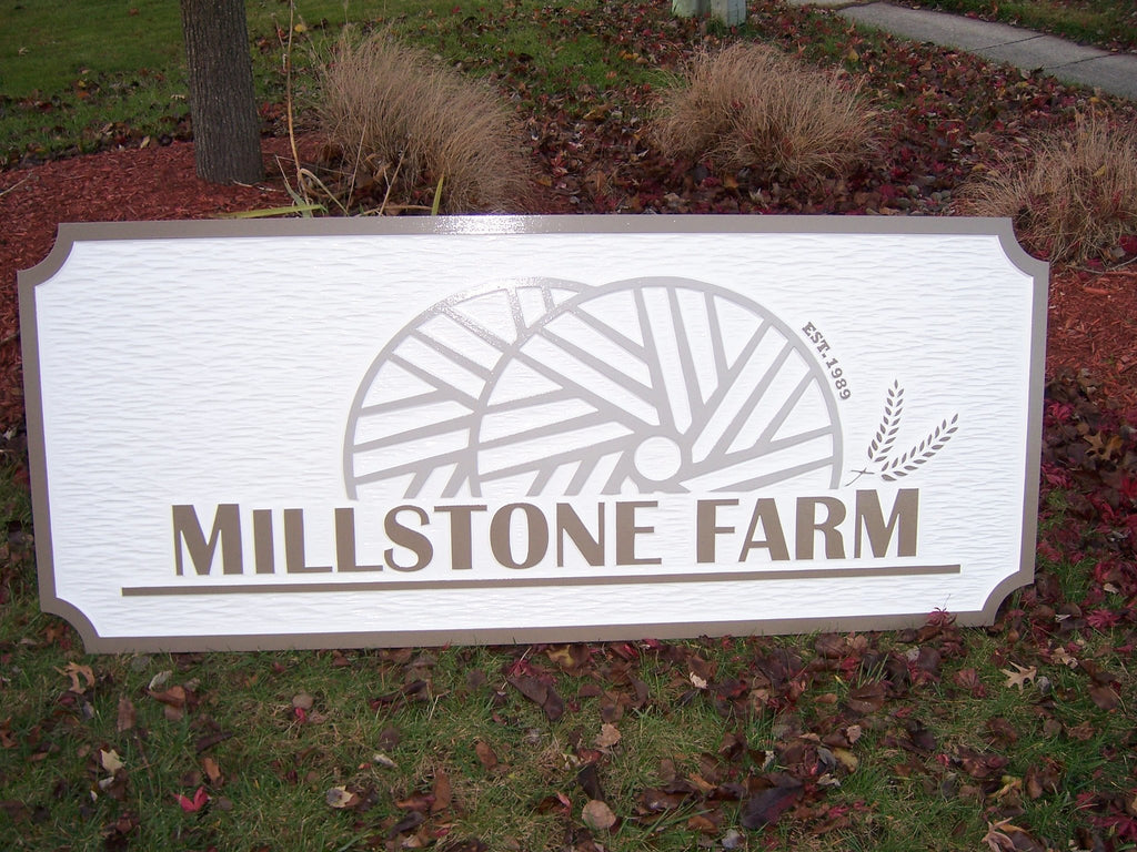 Business Signs - Custom Carved Dimensional Professional Exterior Sign(B27) - The Carving Company