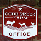 Custom Carved Business Sign - For Farm - Estate - Office Sign (B23) - The Carving Company