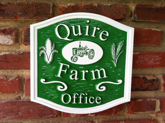 Custom Farm Sign - Professional Office (B62) - The Carving Company