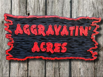 Custom Carved Business Sign - For Farm - Rustic Look - Estates(B26) - The Carving Company