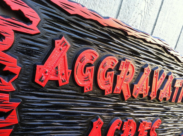 Aggravatin' Acres business sign - iso 2