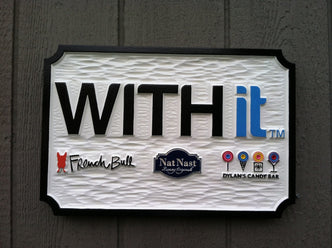 Custom Carved Business Sign - Dimensional Signage for Store Fronts (B64) - The Carving Company