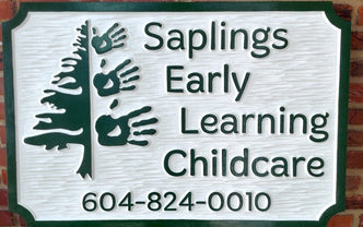 Custom Carved Dimensional Sign for Child Care or any Business (B3) - The Carving Company