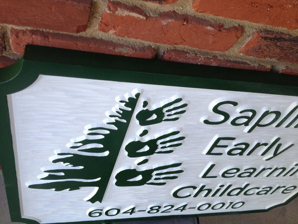 Saplings Early Learning Childcare sign -iso