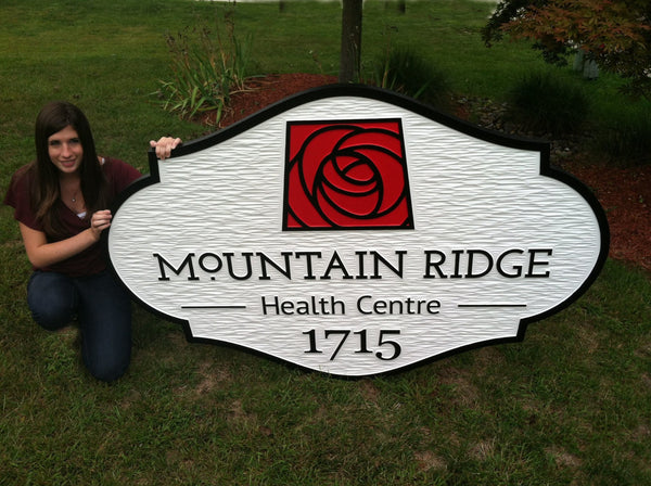 Mountain Ridge Health Centre business sign -front1