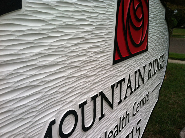 Mountain Ridge Health Centre business sign -iso