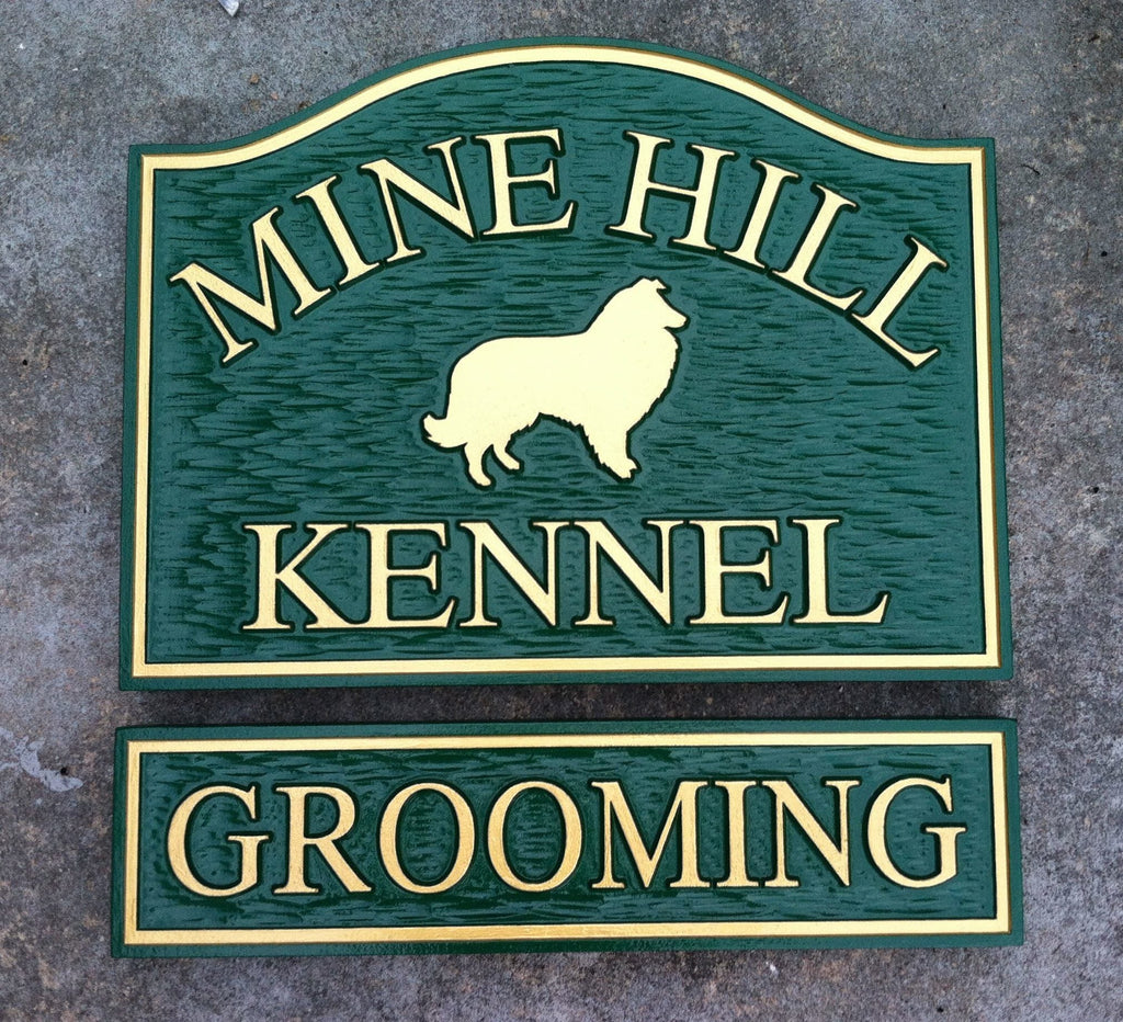Mine Hilll Kennel and Grooming Sign -Front